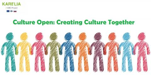 Culture Open Project Banner Image showing drawn figures holding hands with the text Culture Open Creating Culture Together