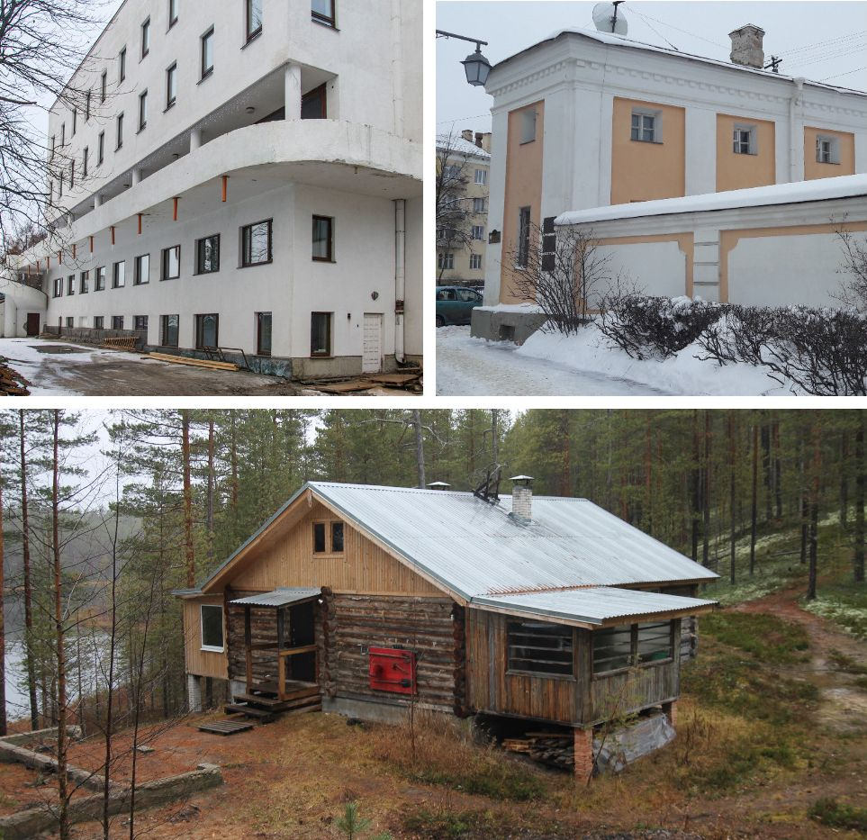 The venues for the residencies-to-be in Sortavala, Petrozavodsk, Sortavala