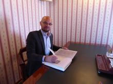 Programme Director Marko Ruokangas working on Important Documents, June 2017